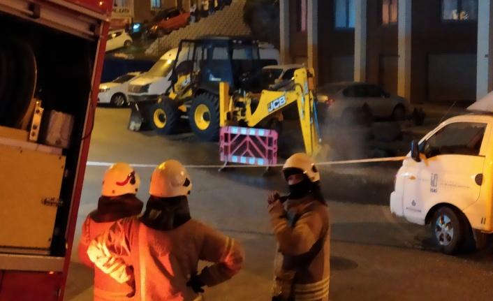 Şişli'de çalışma yapılırken doğal gaz borusu patladı