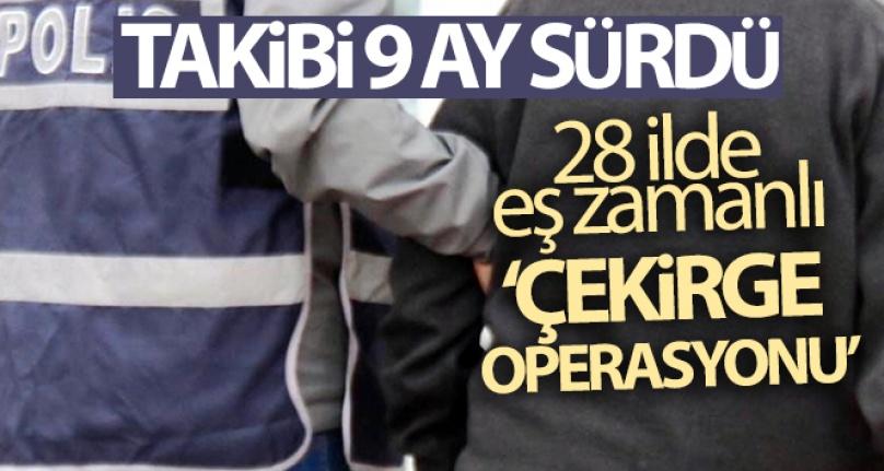 28 İLDE EŞ ZAMANLI 'ÇEKİRGE OPERASYONU'