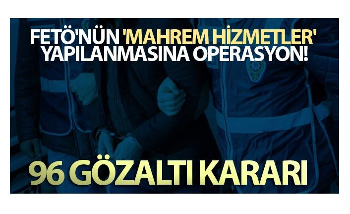 FETÖ'NÜN JANDARMA YAPILANMASINDA 96 ŞÜPHELİ HAKKINDA GÖZALTI KARARI