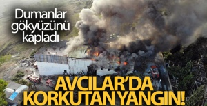 AVCILAR'DA TEKSTİL ATÖLYESİNDE YANGIN!
