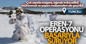 TUNCELİ'DE ŞUBAT AYINDA BAŞLAYAN EREN-7 (MERCAN-MUNZUR) OPERASYONU SÜRÜYOR